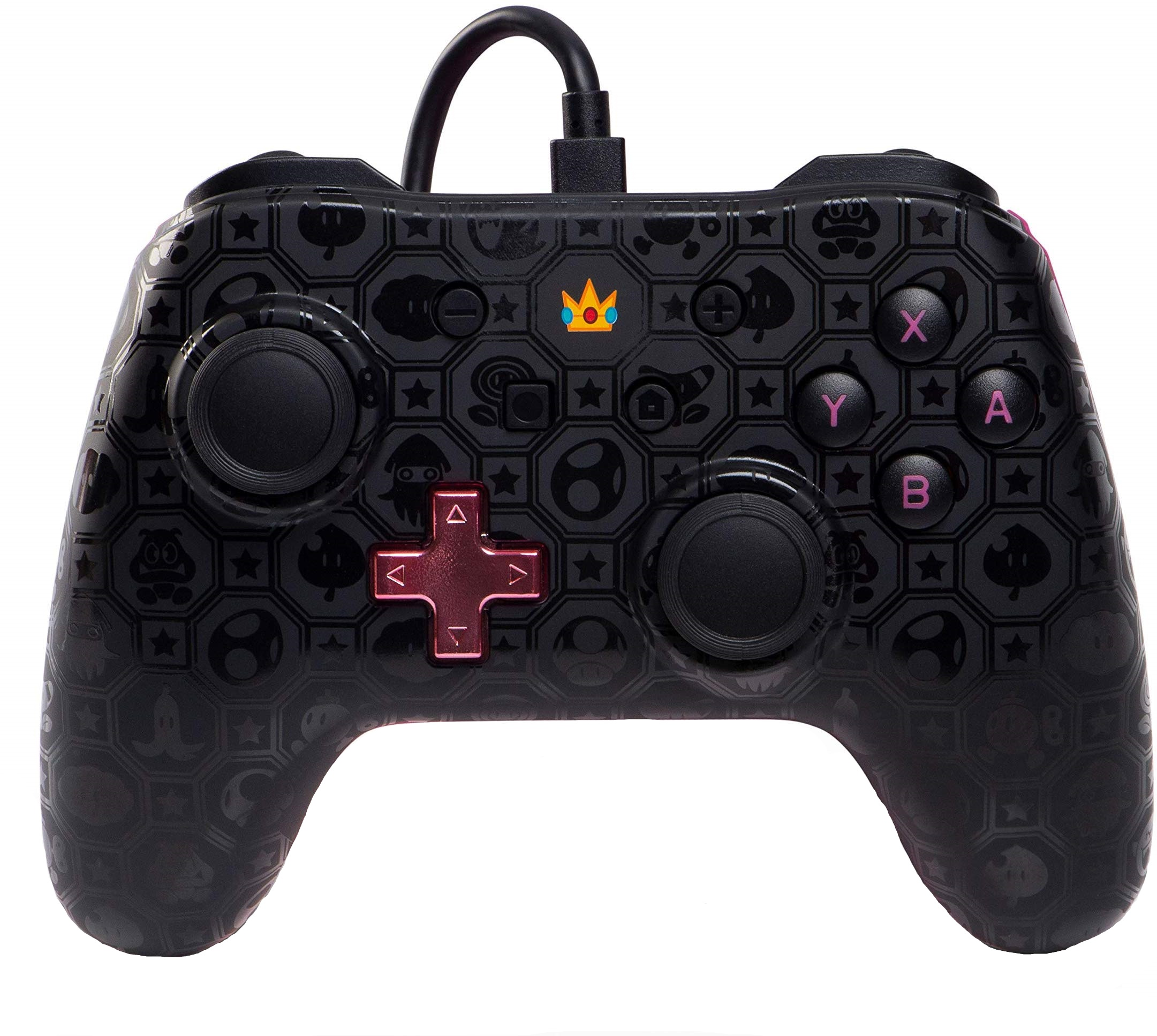 Controller cu Fir Shadow Peach Negru cu Roz pentru Nintendo Switch 0