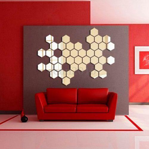 oglinzi stiker decorative hexagonale