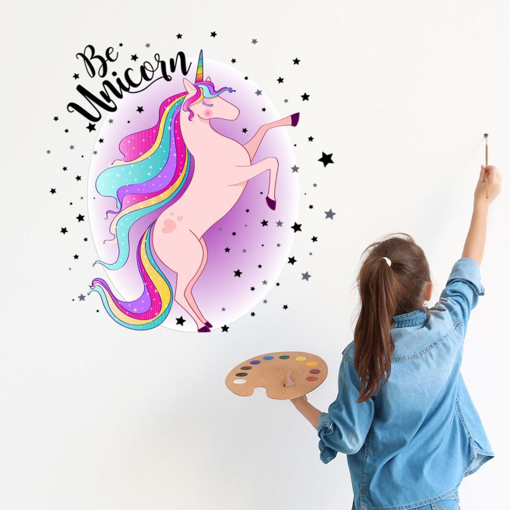 sticker unicorn fete rainbow