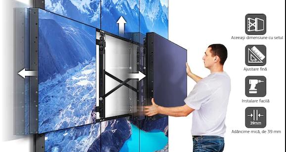 Display Samsung videowall LH55UDEBLBB montare