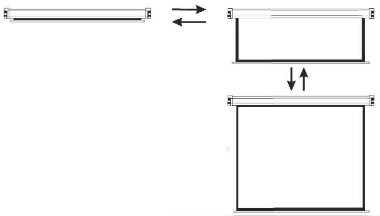 ecran de proiectie manual gbc WS-S200 sistem rulare